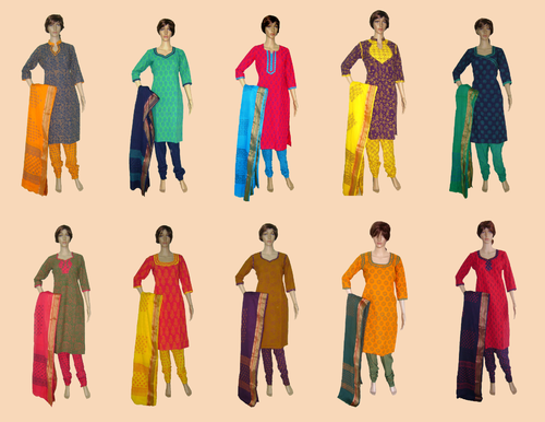 db33219ab5 Block Print Cotton Designer Salwar Kameez Suits at Rs 370 /piece ...