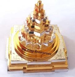 Ganga Jamuna Shree Yantra ( gold and silver police )