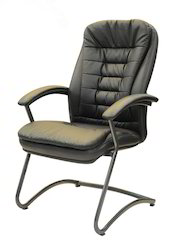 Black Fixed Executive Chair, Height: 700 mm