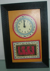 Clock With Dhokra Painting With Warli Art