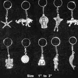 White Metal Key Chains