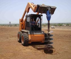 Skid Steer Loader Auger Attachment