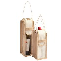 Brown Wine Bottle Bags