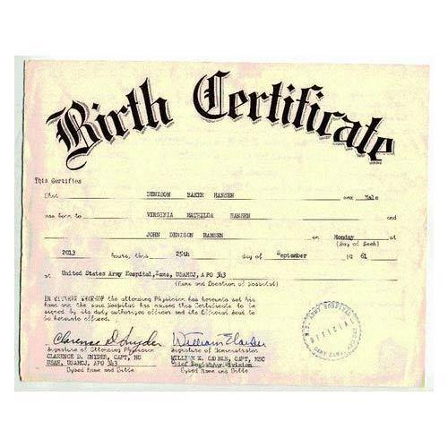Birth Certificate Registration Services