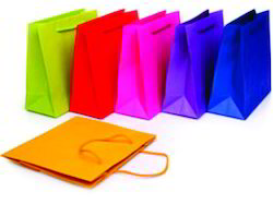Printed Rope Handle Paper Shopping  Bags