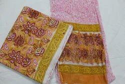 Colorful Suit Set with Chiffon Dupatta