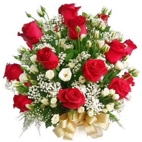 red roses bunch flowers mix roses chocolates gift service provider
