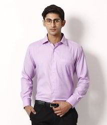 Light Purple Solid Formal Shirt