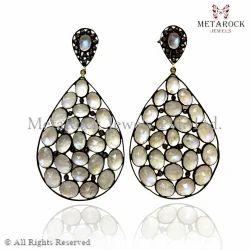 Moonstone Designer Handmade Earring