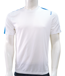 Reebok White Round Neck T-Shirt
