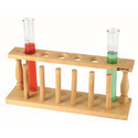 Test Tube Stand Wood With Drying PEGS