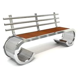Designer Stainless Steel Bench