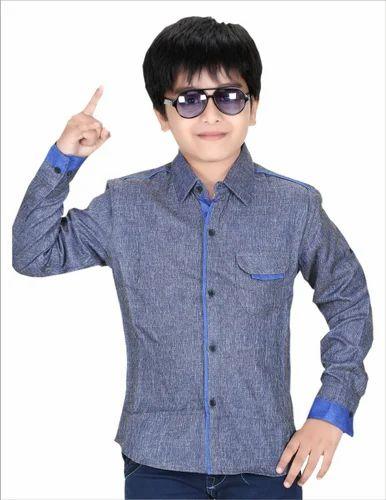 Boys Casual full Hand Shirt, लड़के की कमीज - Majeed Textiles, Chennai   ID:  9431277997