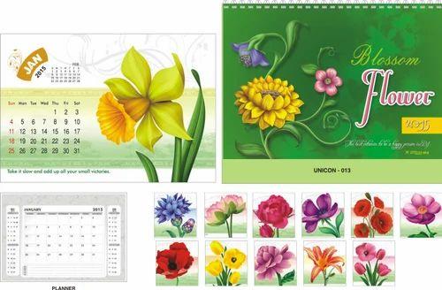 Paper 2022 Flowers Desktop Calendars Rs 29 Piece Ravindra Enterprises Id 8091537748