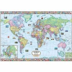 World map 100x70 cms world map indian book depot delhi id world political map gumiabroncs Image collections