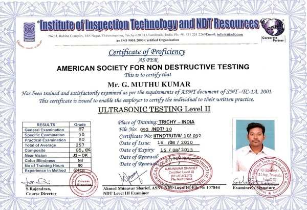 cescrucar - Asnt nde level ii s and answers