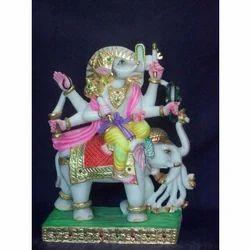 Marble Manibhadra Pratima Moorti