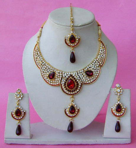 gold plated zircon jewelry necklace set indian jewelry sets narbh