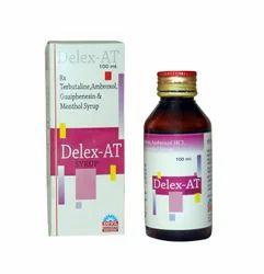 Delex-AT Ambroxol, Terbutaline, Guaiphenesin & Menthol Syrup, 100 ml
