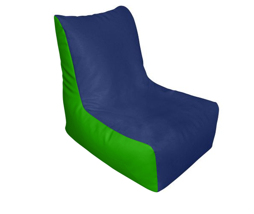 Fab Homez Lounge Chair Cover Navy Blue And Green Xxxl