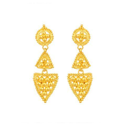 Gold Earrings Unique Stud Tanishq Earrings Manufacturer from Indore