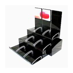 Cosmetics Display Stand Acrylic Cosmetic Display Stand Manufacturer From New Delhi