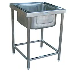 Stainless Steel Shree Chamunda Single Bowl Kitchen Sink Unit