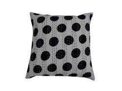 New Cotton Kantha Dot Cushion Cover