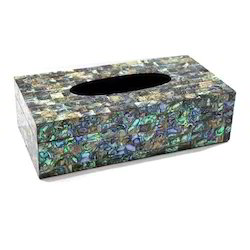 Tissue Paper Holder with Mother of Pearl Inlayed