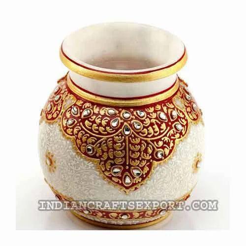 Designed Lota Flower Pot Indian Crafts Exporter In Jhotwara