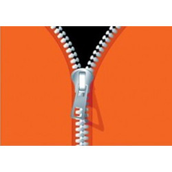 Metal Zippers Vectors