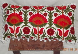 Wool Embroidered Pillow Cover and Cushion Cover, Size: 12x25 inches