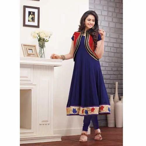 Jacket Style Salwar Kameez Rudra Fashion Manufacturer In New
