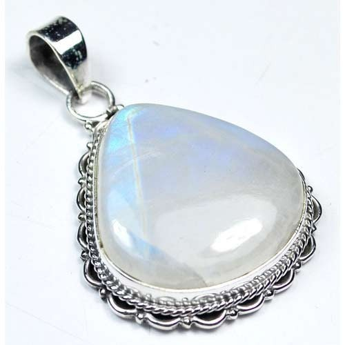 Sterling silver india 925 rainbow moonstone pendant moonstone sterling silver india 925 rainbow moonstone pendant mozeypictures Choice Image
