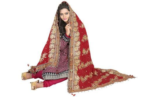 Bridal Dupatta at Rs 1200 /piece(s)   Surat   ID: 3932116762