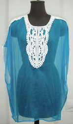 Blue Polyester Tunic