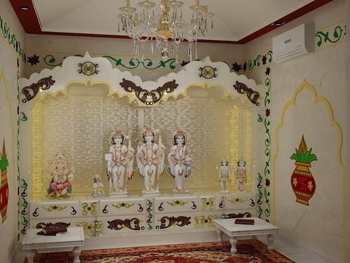 Pooja Room Interior Designing in Pallikaranai Chennai ID 9458007488