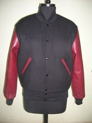 Black Maroon Varsity Jacket