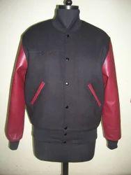 Black Maroon Varsity Jacket