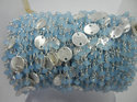 Peru Chalcedony Sterling Silver Beaded Silver Disk Chain