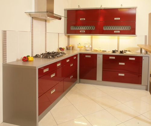 Plywood L Shaped Modular Kitchen Rs 1200 Square Feet Jovi Homes