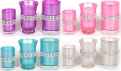 Diamond Glass Candle Holder