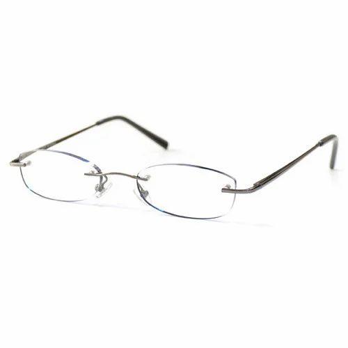 5191f3e94d4 Metal Rimless Optical Frame