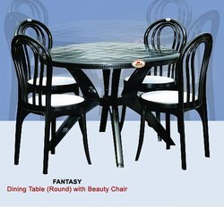 Plastic Round Dining Table with Chair