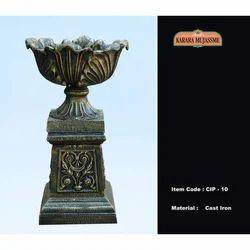 Vintage Cast Iron Pedestals & Planters