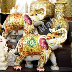 Decorative Marble Handicraft Elephant