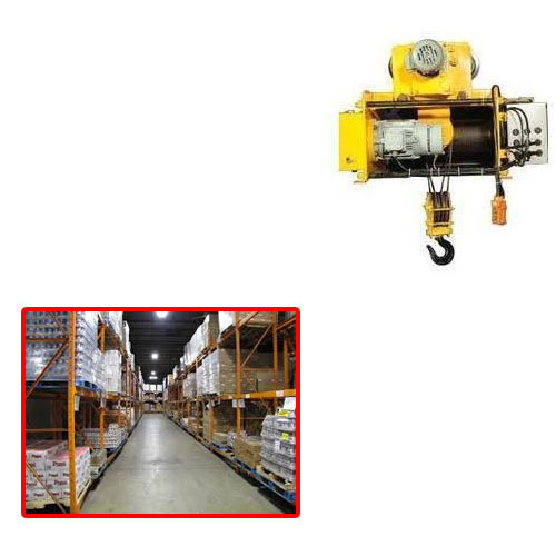 MS ENGINEERS Yellow Electric Wire Hoist For Warehouse, Capacity: 1-3 Ton