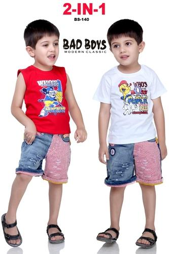 aa133f1a1 Bad Boys Cotton Printed Kids Baba Suit, Rs 140 /piece(s), Real ...