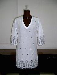 Eyelet Fabric Cotton Tunic