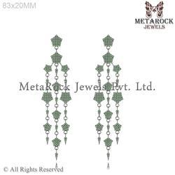 Emerald Gemstone Jhumka Earring